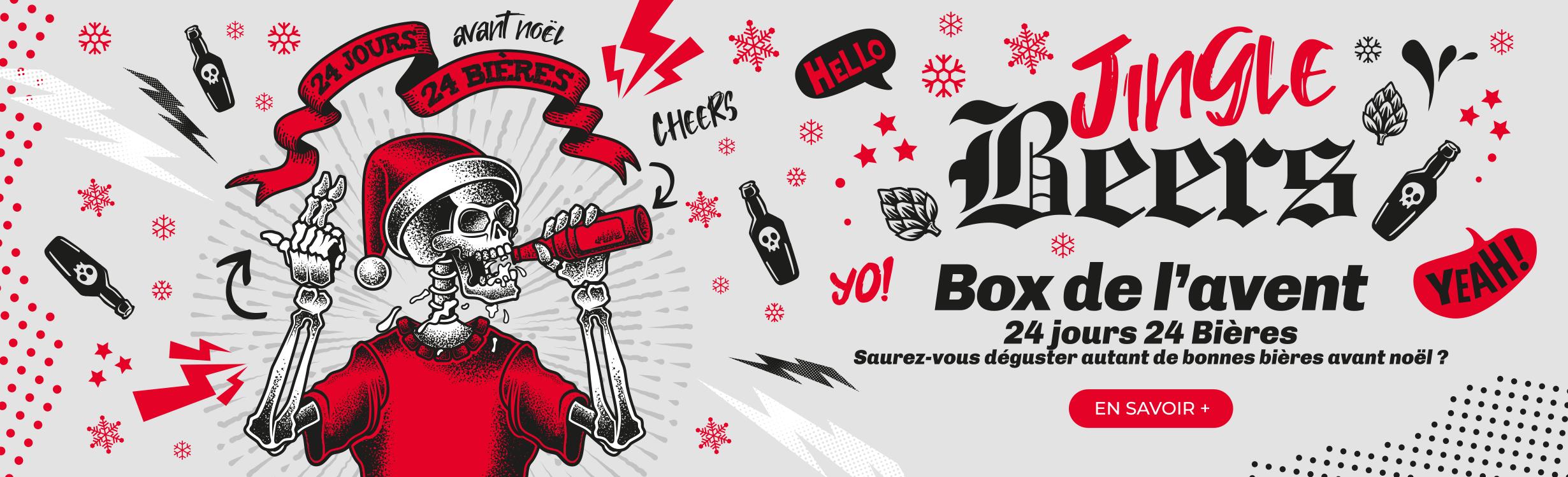Box de l'avent - 24 jours / 24 Bières - Saurez-vous déguster autant de bonnes bières avant Noël ?